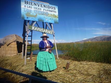 Peru - pływające wyspy Uros