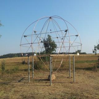 Czakram Ziemi Podlasie, sferyczna piramida,promieniowanie kształtów,święta geometria