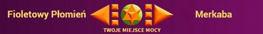 Baner Fioletowy Płomień Merkaba