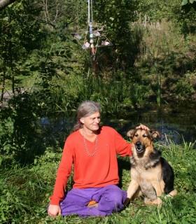 Merkaba Gwiazda i medytacja nad rzeką
