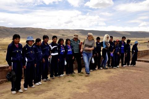 Boliwia -Tiwanaku - miejsce szczęścia.
